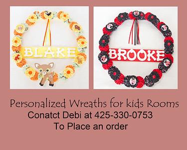 New Personalized Wreaths by Debi
