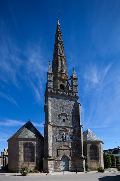 Saint-Cornely church, town of Carnac, departament of Morbihan, Brittany, France