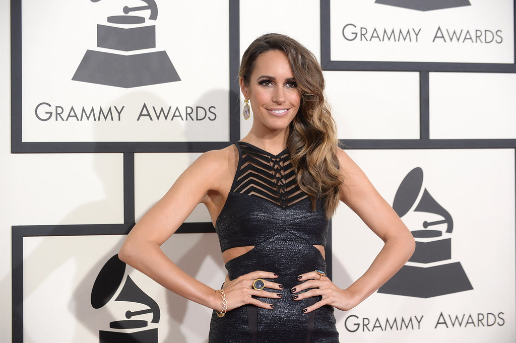 . Louise Roe arrives at the 56th annual GRAMMY Awards at Staples Center on Sunday, Jan. 26, 2014, in Los Angeles. (Photo by Jordan Strauss/Invision/AP)