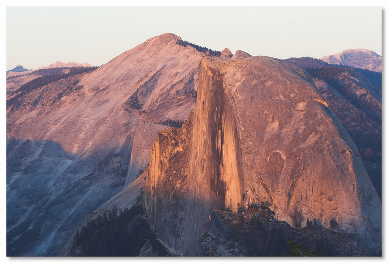 Half Dome from Sentinel Dome at sunset, Yosemite September 2006.