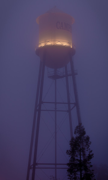 Water Tower in Fog, Campbell, California, 2010