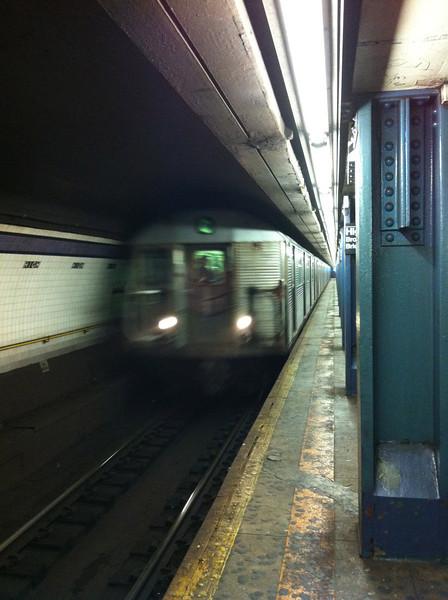 The subway train
