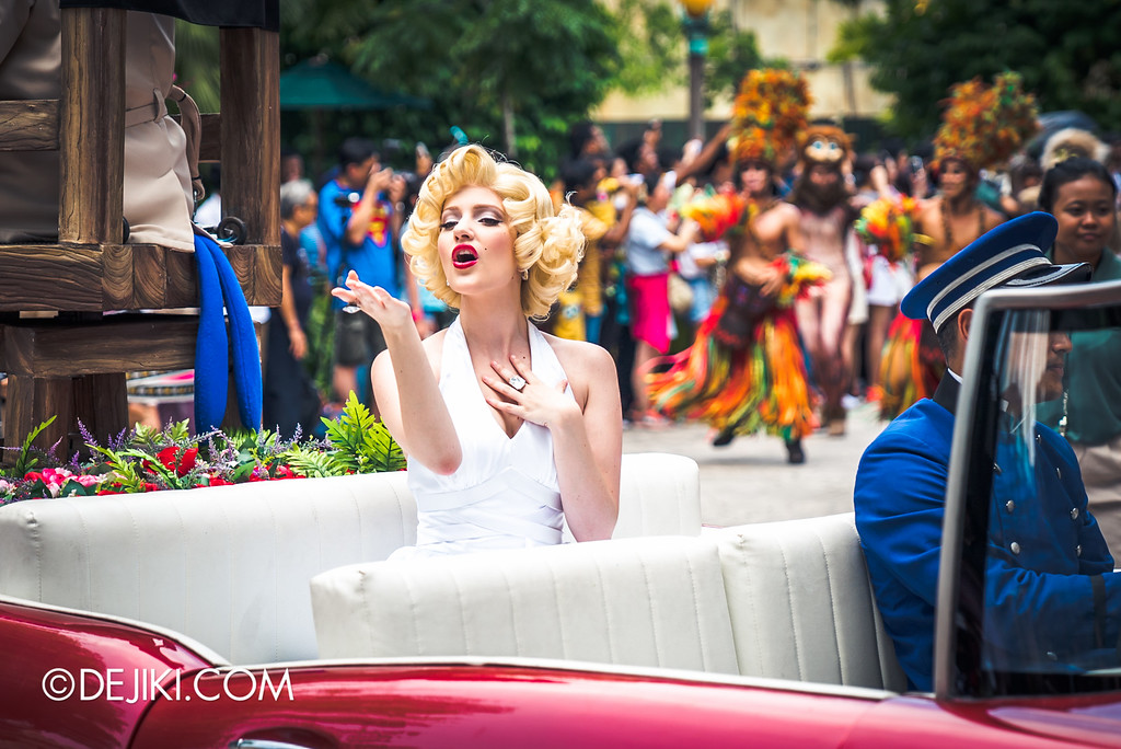Universal Studios Singapore Park Update August 2016  - Hollywood Dreams Parade / Marilyn