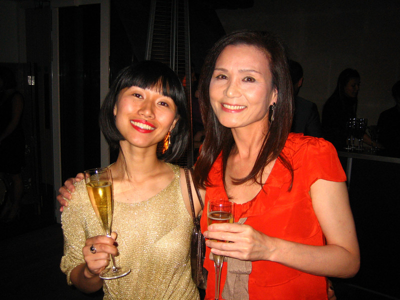 Takako at wroap party with Keanu Reeves, 47 Ronin