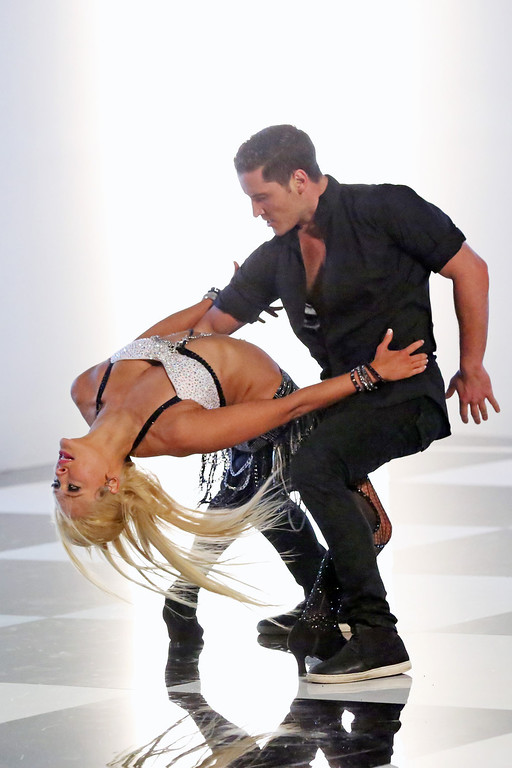 ". Peta Murgatroyd and Val Chmerkovskiy from ""Dancing with the Stars.\"" This season\'s dynamic lineup of stars  will perform for the first time on live national television with their professional partners during the two-hour season premiere of \""Dancing with the Stars,\"" on Monday, March 18 (8:00-10:01 p.m., ET) on the ABC Television Network.  (ABC/Adam Taylor)"