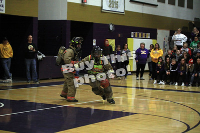 Firefighters Play Basketball