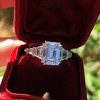 3.43ctw Emerald Cut Diamond 5-Stone Ring by Leon Mege, GIA F SI1 26