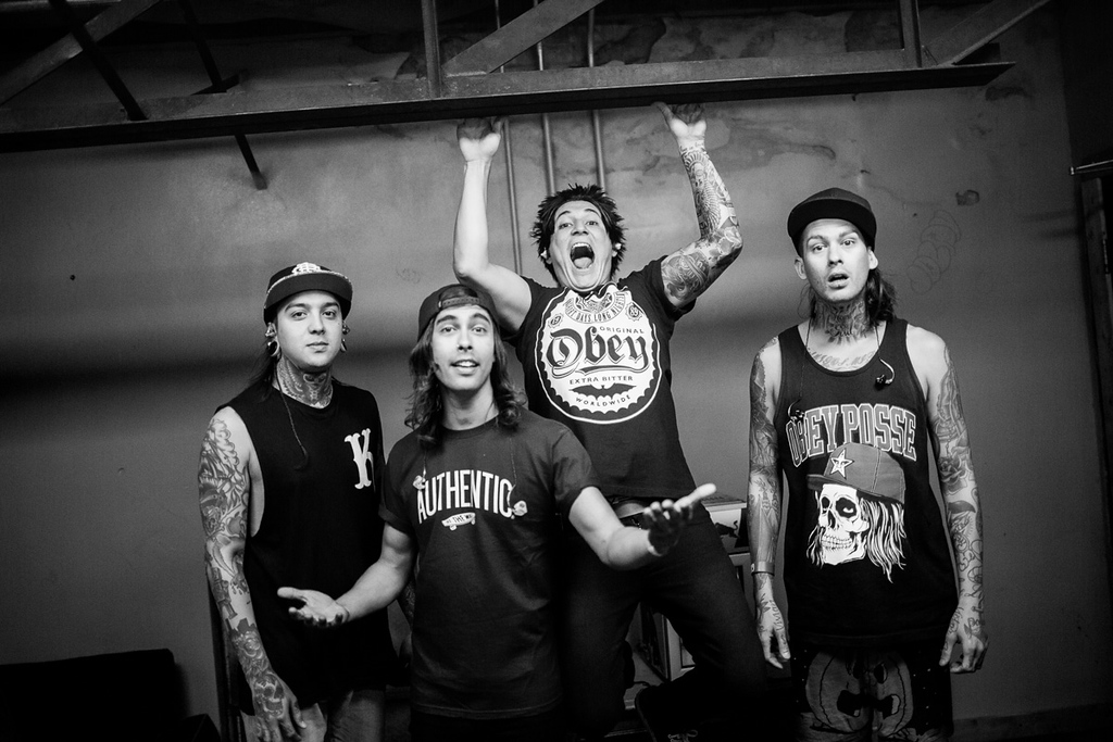 Pierce The Veil backstage at The Door in Dallas, Texas