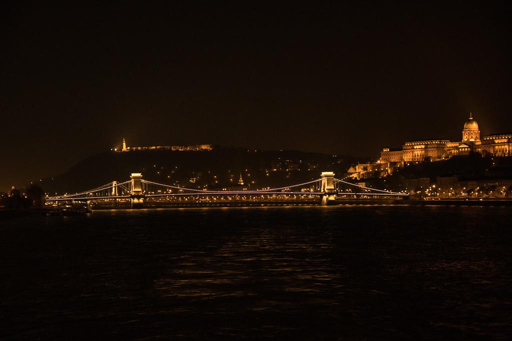 Budapest Chain Bridge & Parliament Building at Night