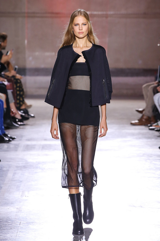 . PARIS, FRANCE - SEPTEMBER 26:  A model walks the runway during IRFE show as part of the Paris Fashion Week Womenswear  Spring/Summer 2014 on September 26, 2013 in Paris, France.  (Photo by Victor Boyko/Getty images for IRFE Paris)