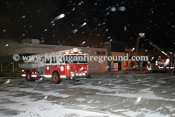 3/24/11 - Lansing Twp commercial building fire, 3021 E. Saginaw