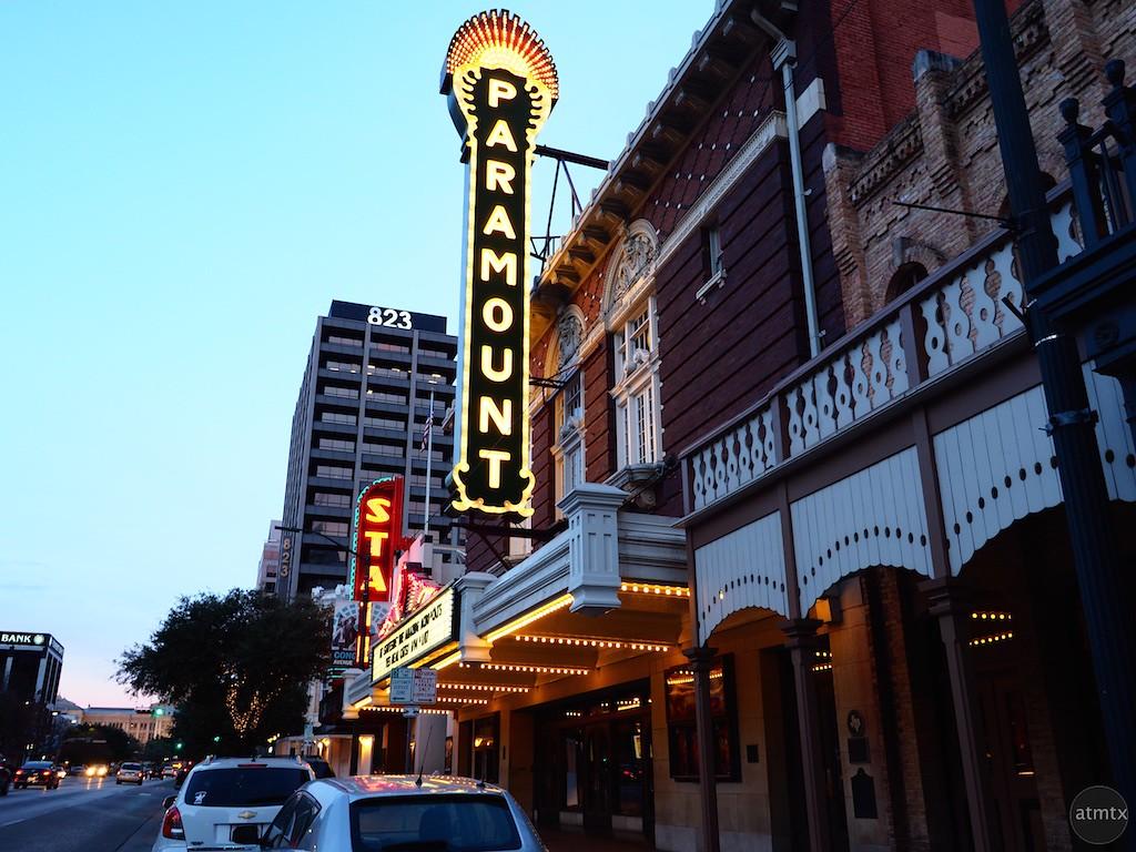 The Paramount Lights Up, Congress Avenue - Austin, Texas