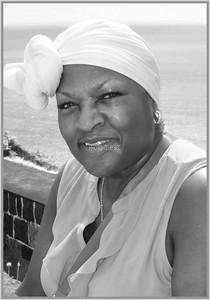 PRINT-MONO-MASTER-SILVER-CARIBBEAN WOMEN-PAT JONES
