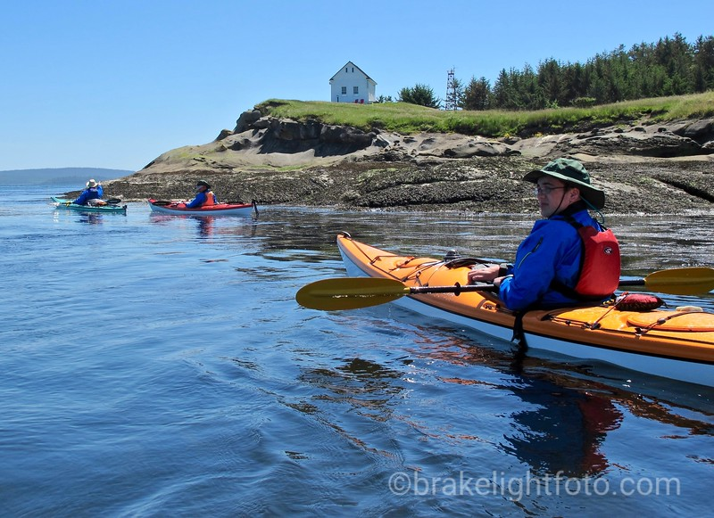 Kayakers off East Point Saturna Island