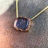 'INV My Letter' Pale Pink Glass Rebus Pendant, by Seal & Scribe 30