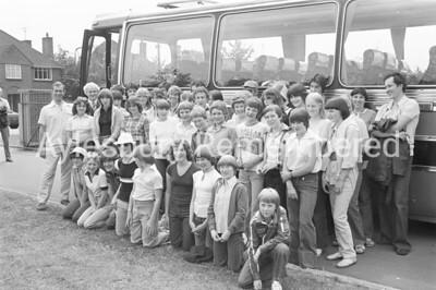 Grange School pupils off to Holland, July 1978