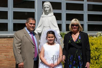 Bella Molina's First Communion 05-04-2013