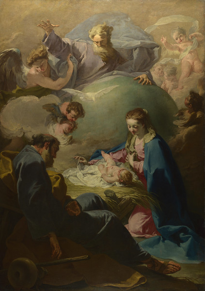 The Nativity with God the Father and the Holy Ghost