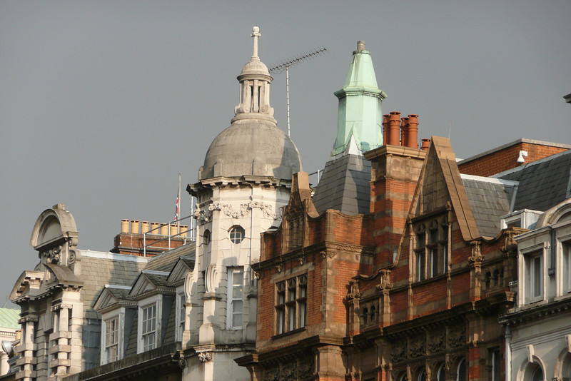 Roofs on Parliament Street. London
