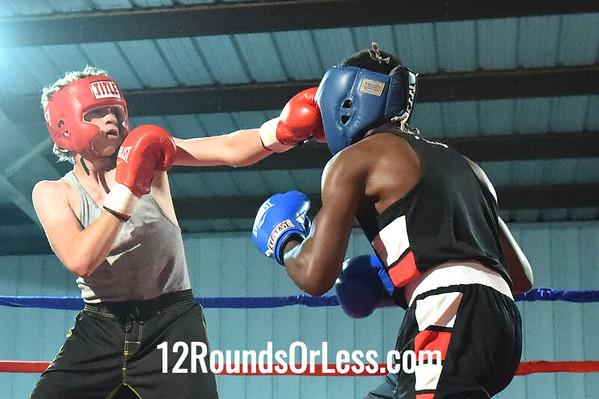 Bout 11 James Parks, Zelma George/Empire -vs- Roy Makenzie Jr., Micky Scodovas Boxing, 135 lbs, Novice