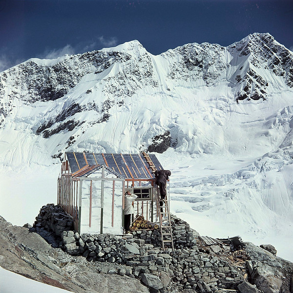 1952 Recladding Murchison Hut (now swept away).jpg