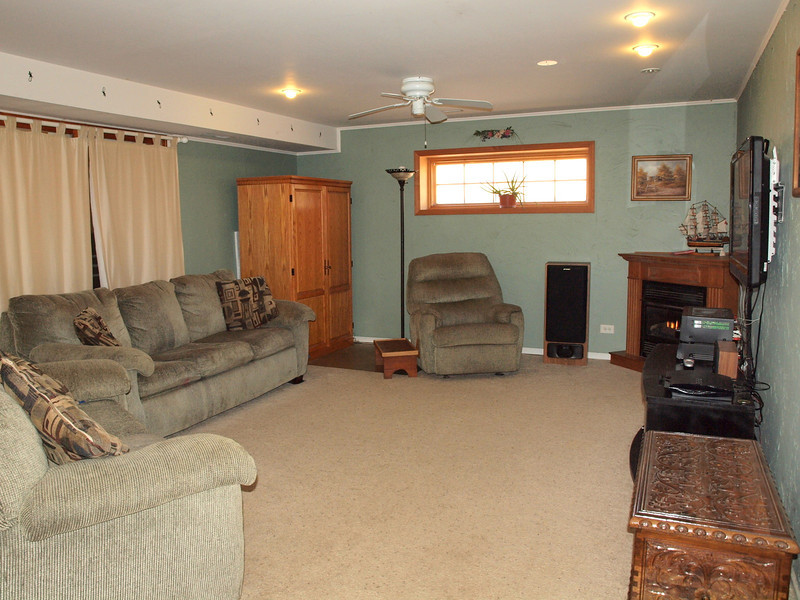 Spacious Family room with cozy fireplace!