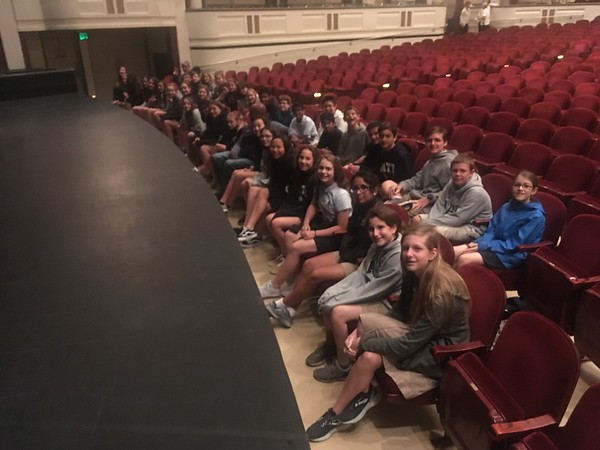 7th Grade Field Trip to the Mahaffey Theatre