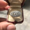 1.64ctw Vintage Princess Style Oval Cluster Ring 16