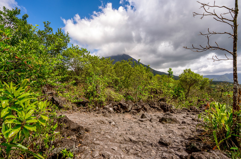 Lave field around Arenal Volcano
