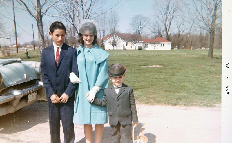 George, Lynn & Normie going to church.JPG