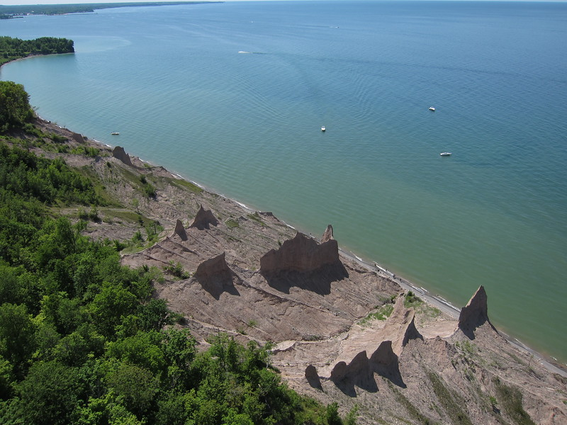 "Chimney Bluffs and Lake Ontario<br />  <a href=""http://nysparks.state.ny.us/parks/43/details.aspx"">http://nysparks.state.ny.us/parks/43/details.aspx</a>"