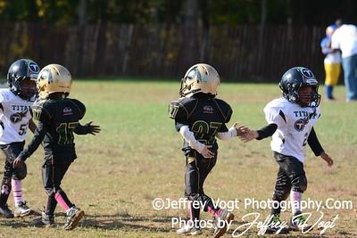 10-11-2015 Montgomery Village Sports Association Chiefs Super Tiny Mites vs Ridge Road Titans, Photos by Jeffrey Vogt Photography