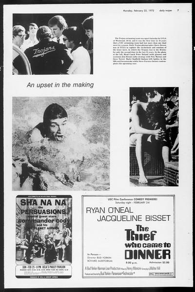 Daily Trojan, Vol. 65, No. 77, February 22, 1973