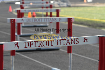 400M Hurdles - 2014 OU vs UDM Dual Track Meet