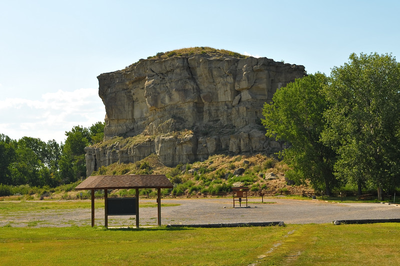 Pompey's Pillar along the Yellowstone River east of Billings, Montana