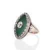 3.34ctw Georgian-era Cushion Cut Diamond and Enamel Ring 1