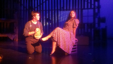Theatre Dept. in Rehearsal for Of Mice and Men
