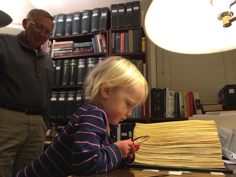 20160304 052 Kate helps Grandpa with stamps.JPG