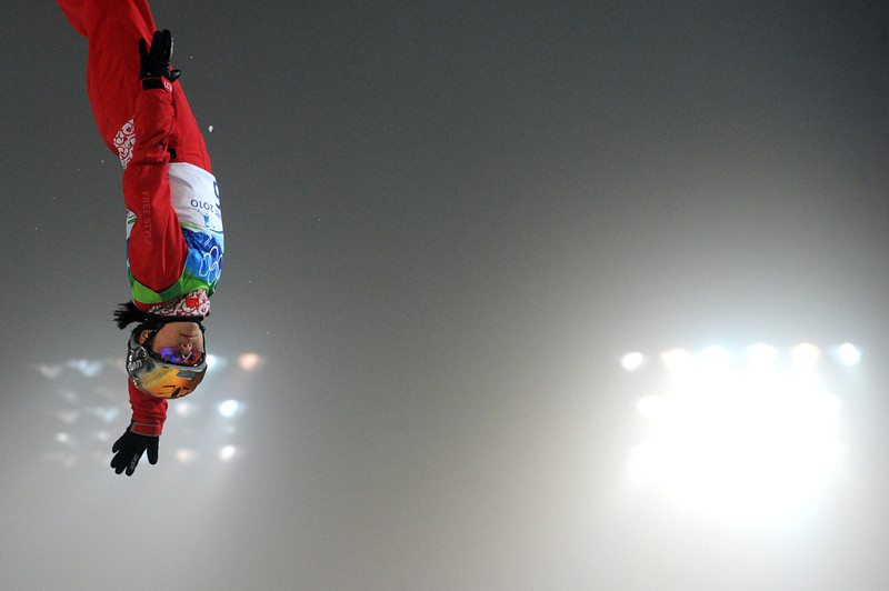 . China\'s Cheng Shuang competes during the Freestyle Skiing women\'s aerial finals at Cypress Mountain, north of Vancouver during the Vancouver Winter Olympics on February 24, 2010.  (MARTIN BUREAU/AFP/Getty Images)