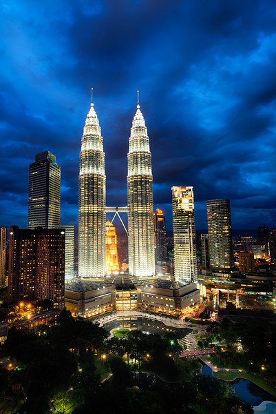 The Petronas Towers Cyclone.  Kuala Lumpur, Malaysia