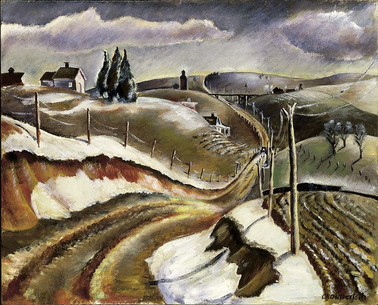 "Glenn Chamberlain, ""Country Road"" (ca 1934)"