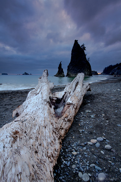 Dusk at Rialto Beach, La Push, WA