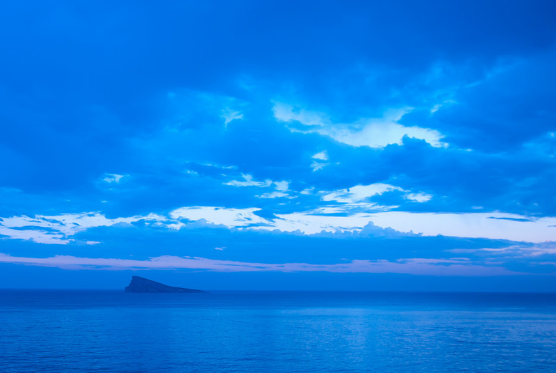 The Benidorm Island (or Peacock Island) in Benidorm, Spain