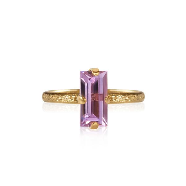 Baguette Ring / Violet Gold