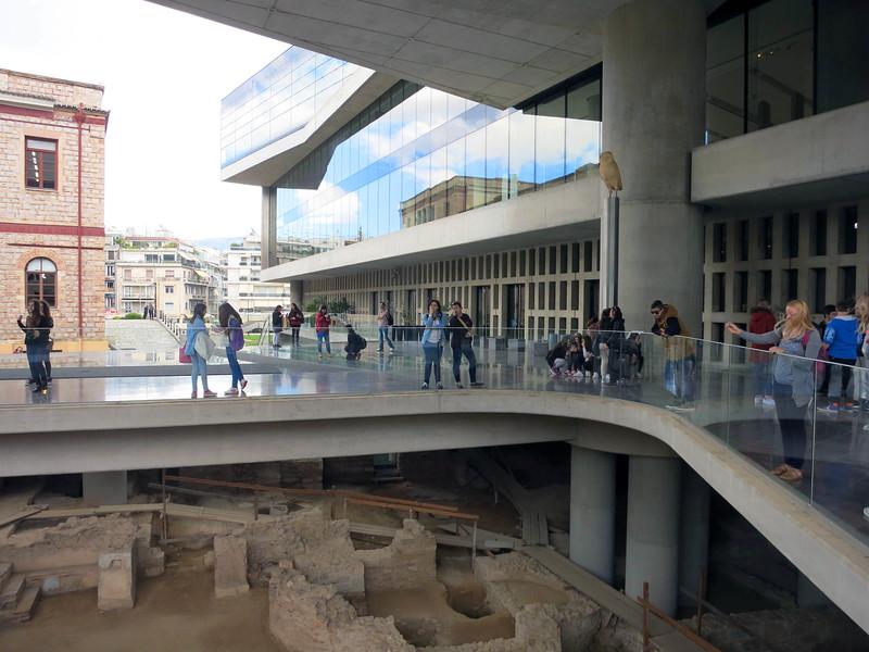 Entrance bridge to Acropolis Museum