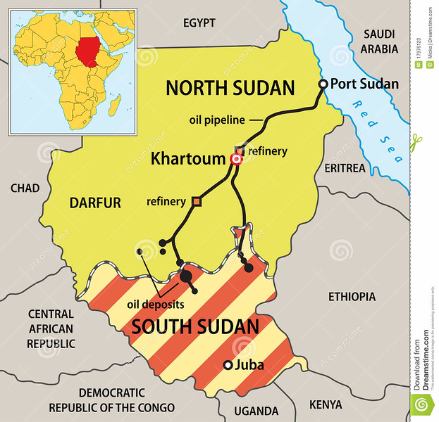 //www.dreamstime.com/stock-photos-sudan-political-map-image17976123