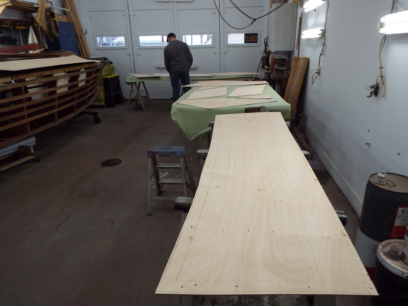 Getting ready to apply the epoxy.