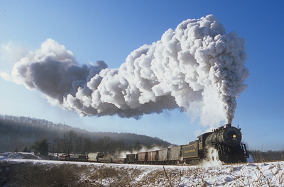 Western Maryland - 734 - Steam in the snow