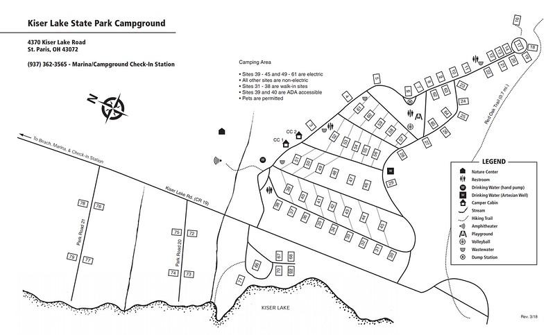 Kiser Lake State Park (Campground Map)