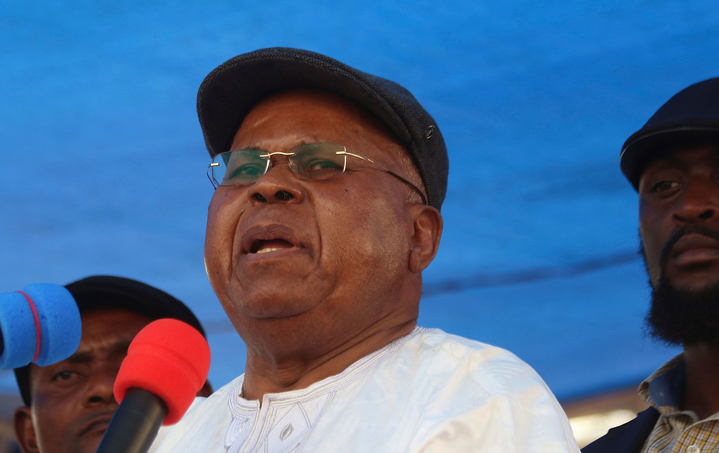 . Congo opposition leader Etienne Tshisekedi speak during a political rally in Kinshasa, Congo. Congo\'s opposition icon Etienne Tshisekedi, who pushed for democratic reforms for decades in this vast Central African nation and once declared himself president after saying the election was rigged by the incumbent, has died, his political party said late Wednesday, Feb. 1, 2017. (AP Photo/John Bompengo,File)